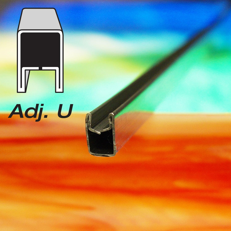 3/8 Adj U Zinc Came - 6 ft Piece