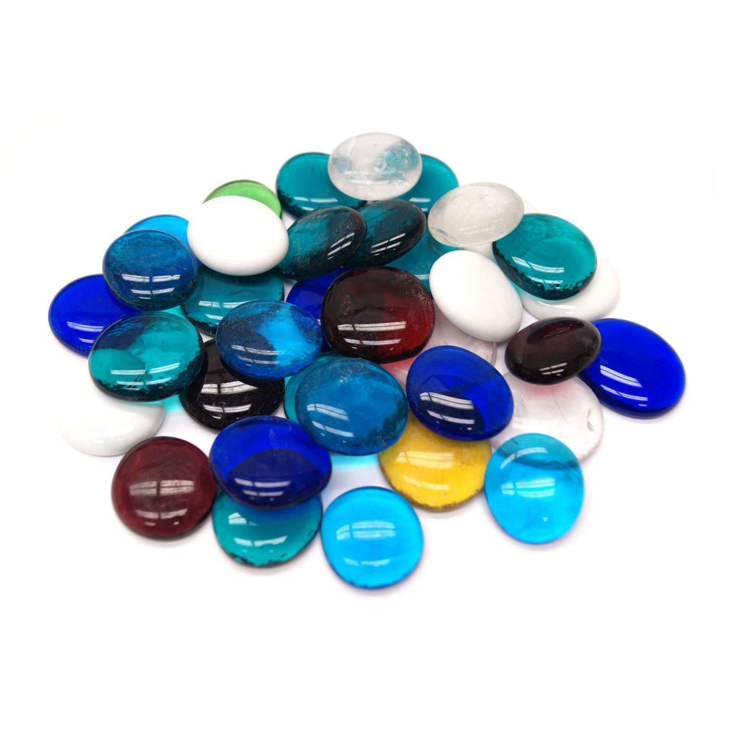 Large Assorted Glass Nuggets - 1 Lb.