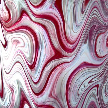 Spectrum baroque peppermint pink and white on clear for Clear baroque glass