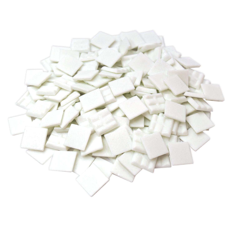 3/4 Arctic White Glass Tile - 1 lb