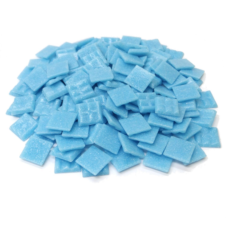 3/4 Ocean Blue Glass Tile - 1 lb