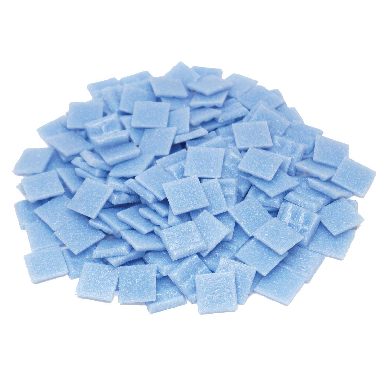 3/4 Sky Blue Glass Tile - 1 Lb