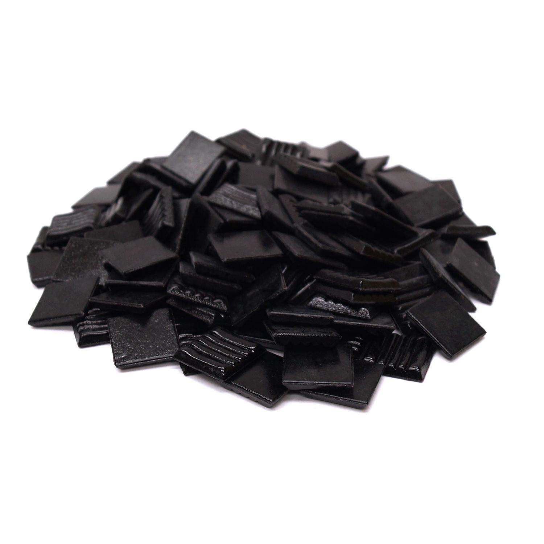 3/4 Black Glass Tile - 1 lb