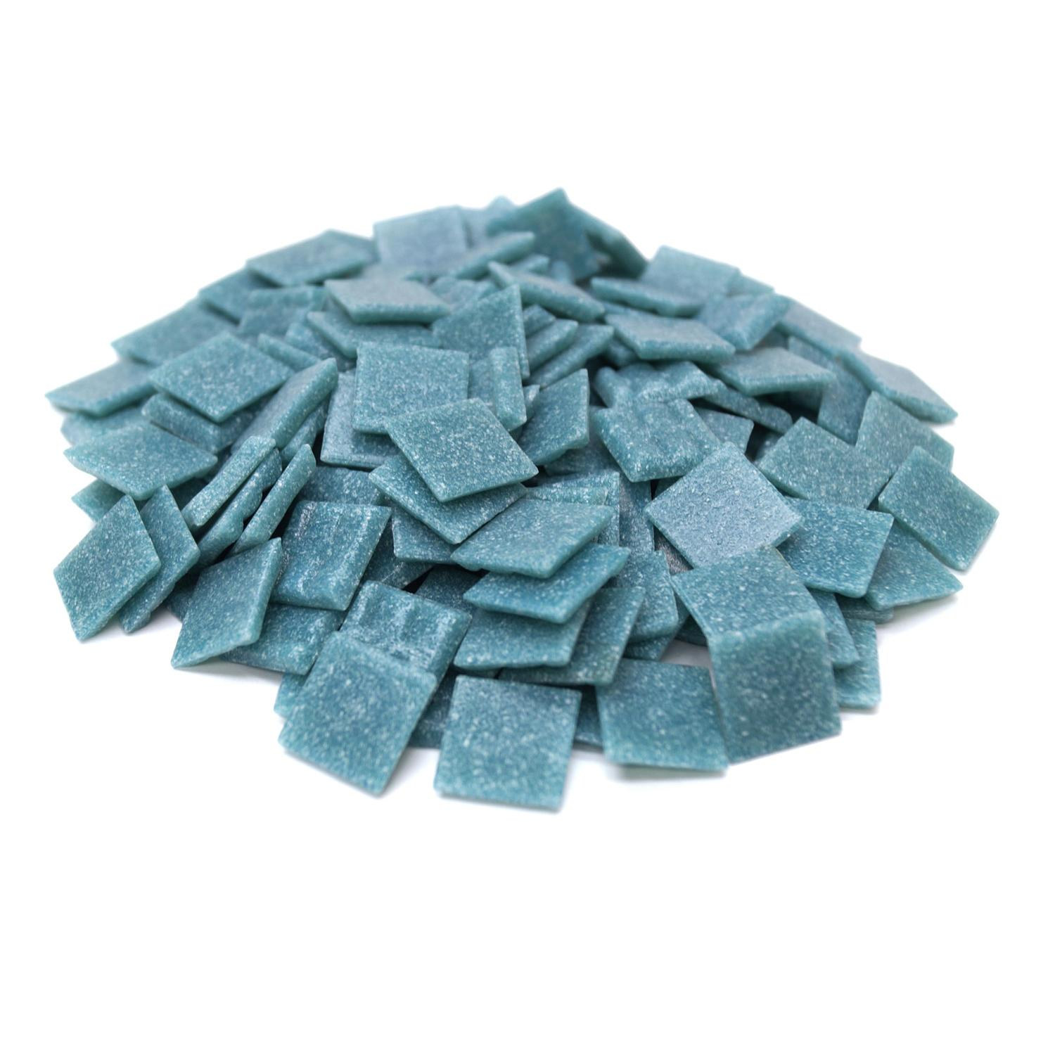 3/4 Lagoon Glass Tile - 1 lb