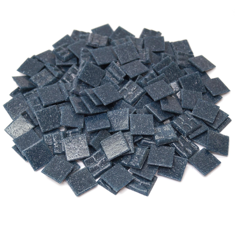 3/4 Dark Slate Glass Tile - 1 lb