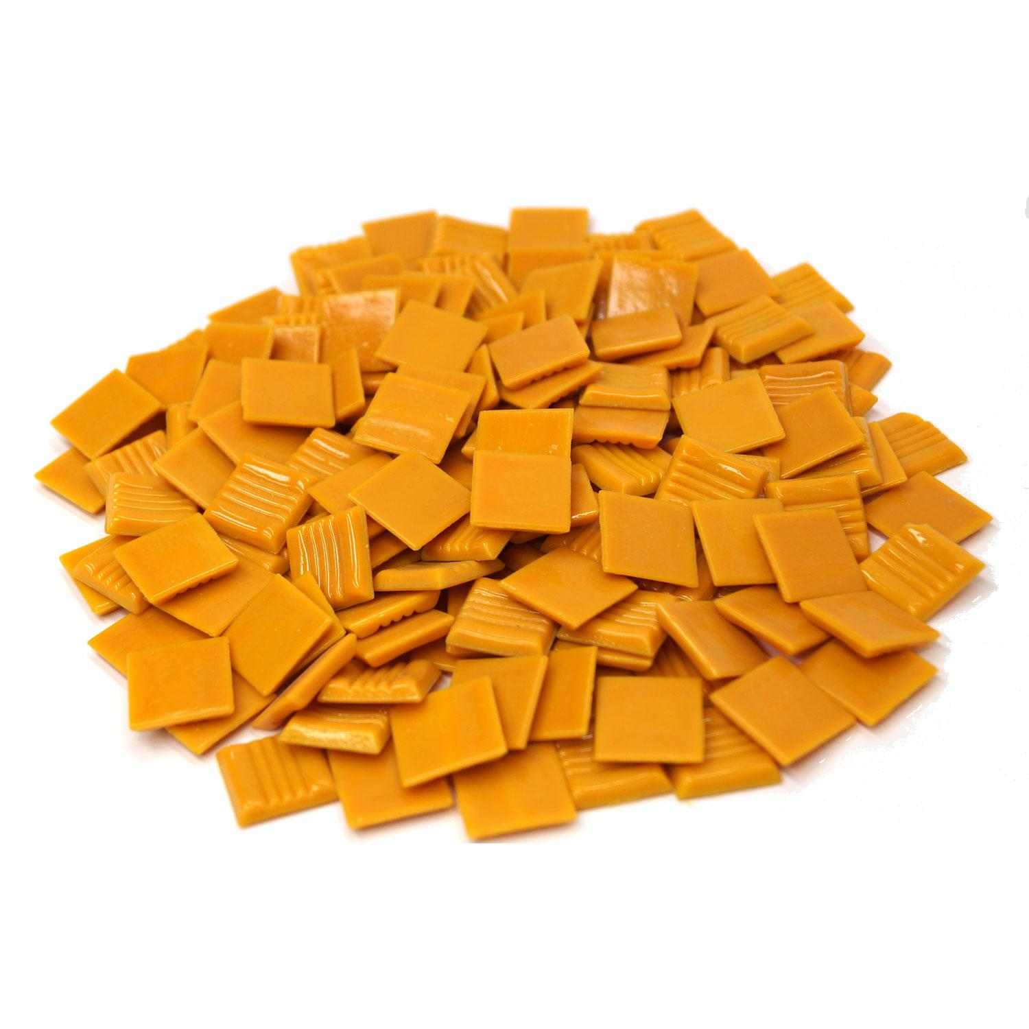 3/4 Pumpkin Glass Tile - 1 lb