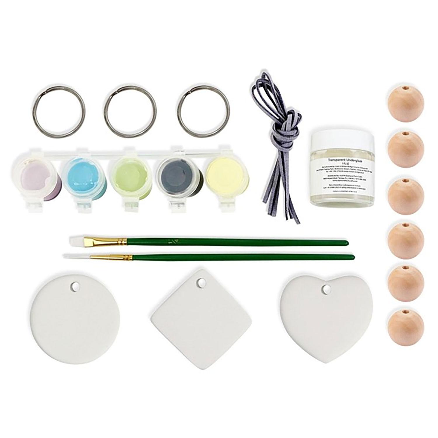 Fuseworks Beginners Ceramic Glaze Key Ring Kit