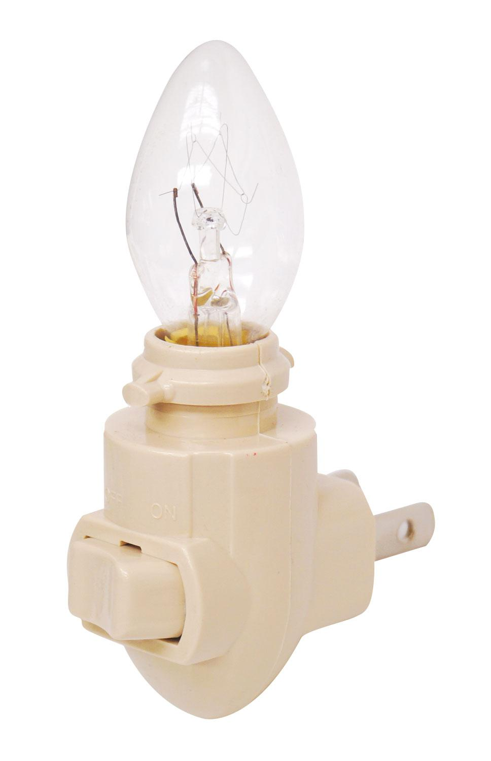 Ivory Night Light With 4w Bulb - 12 Pack