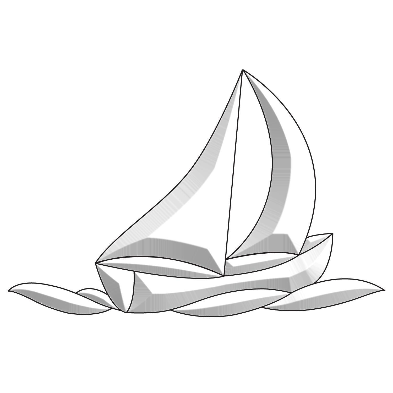 Sailboat Creative Bevel Cluster