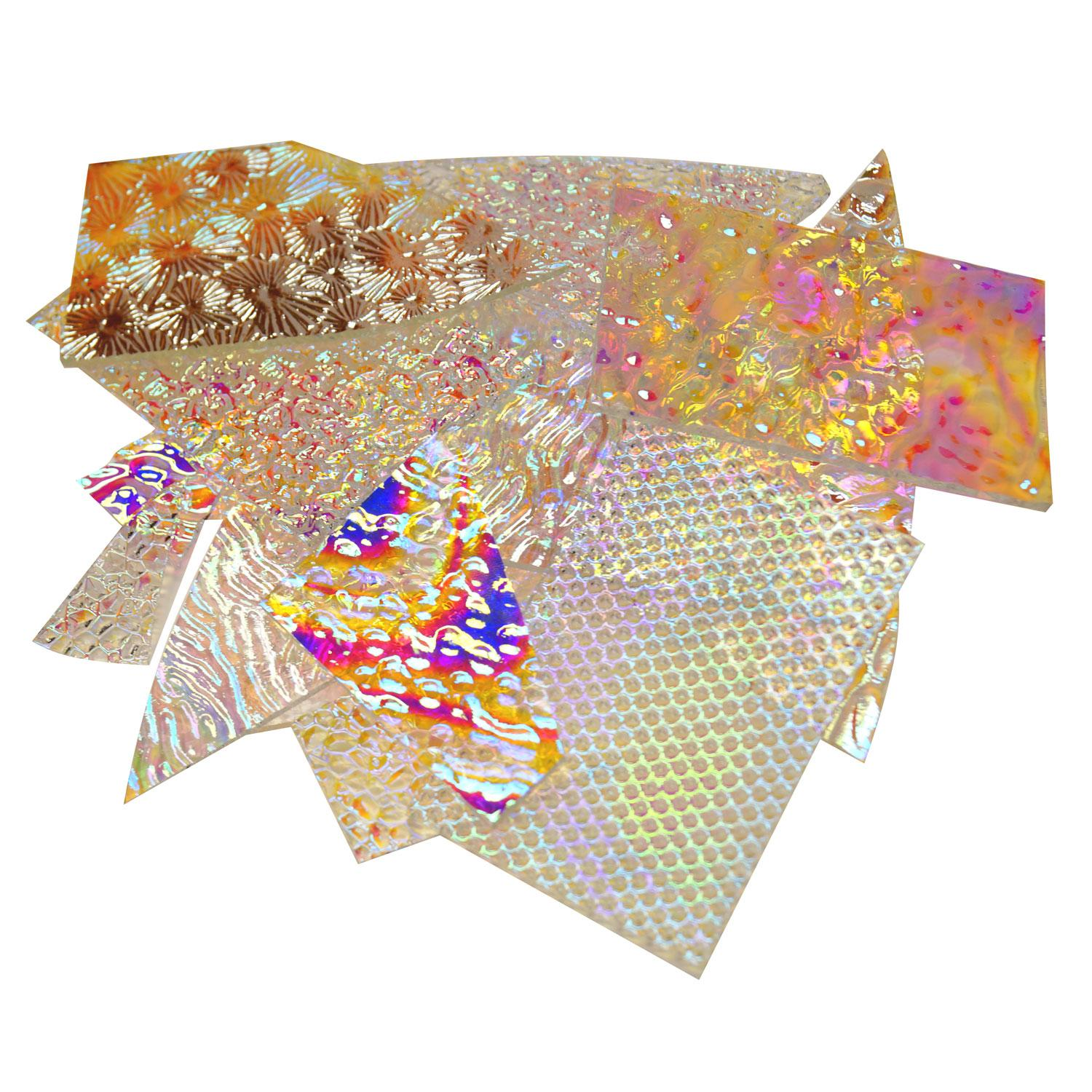 1/2 Lb CBS Experimental Dichroic Scrap On Clear - 90 COE