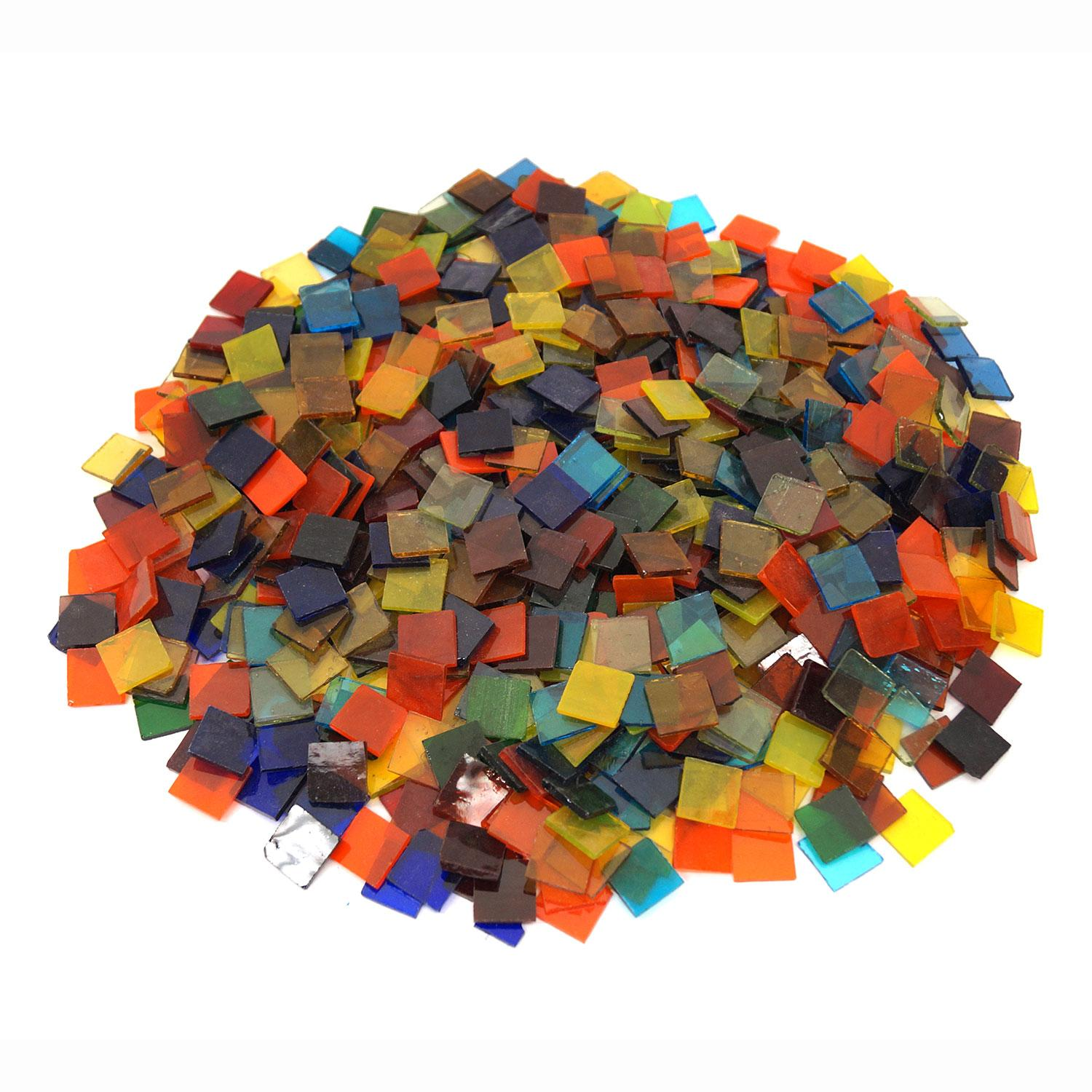3/4 Cathedral Stained Glass Chip Assortment - 640 Pieces