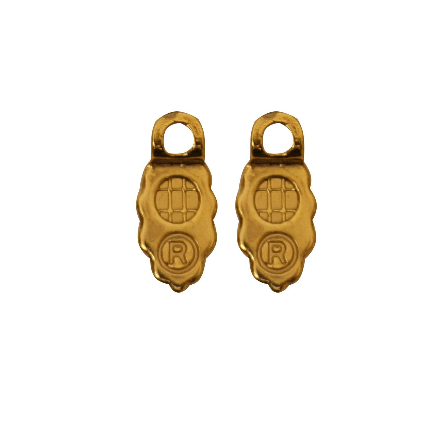 18K Gold Plated Earring Bails - 12 Pair