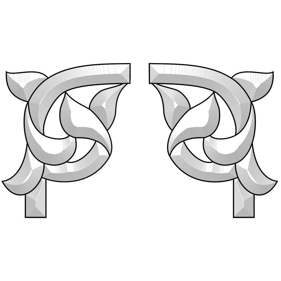 Elegant Corners Bevel Cluster - Set of 2
