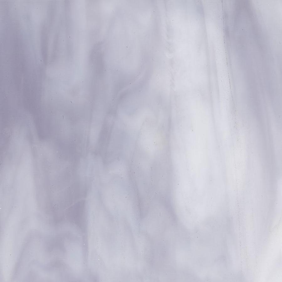 Bullseye White Opal, Lavender Blue Opal Streaky - 90 COE