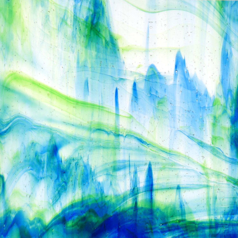 Kokomo Blue, Green and Clear Transparent Streaky