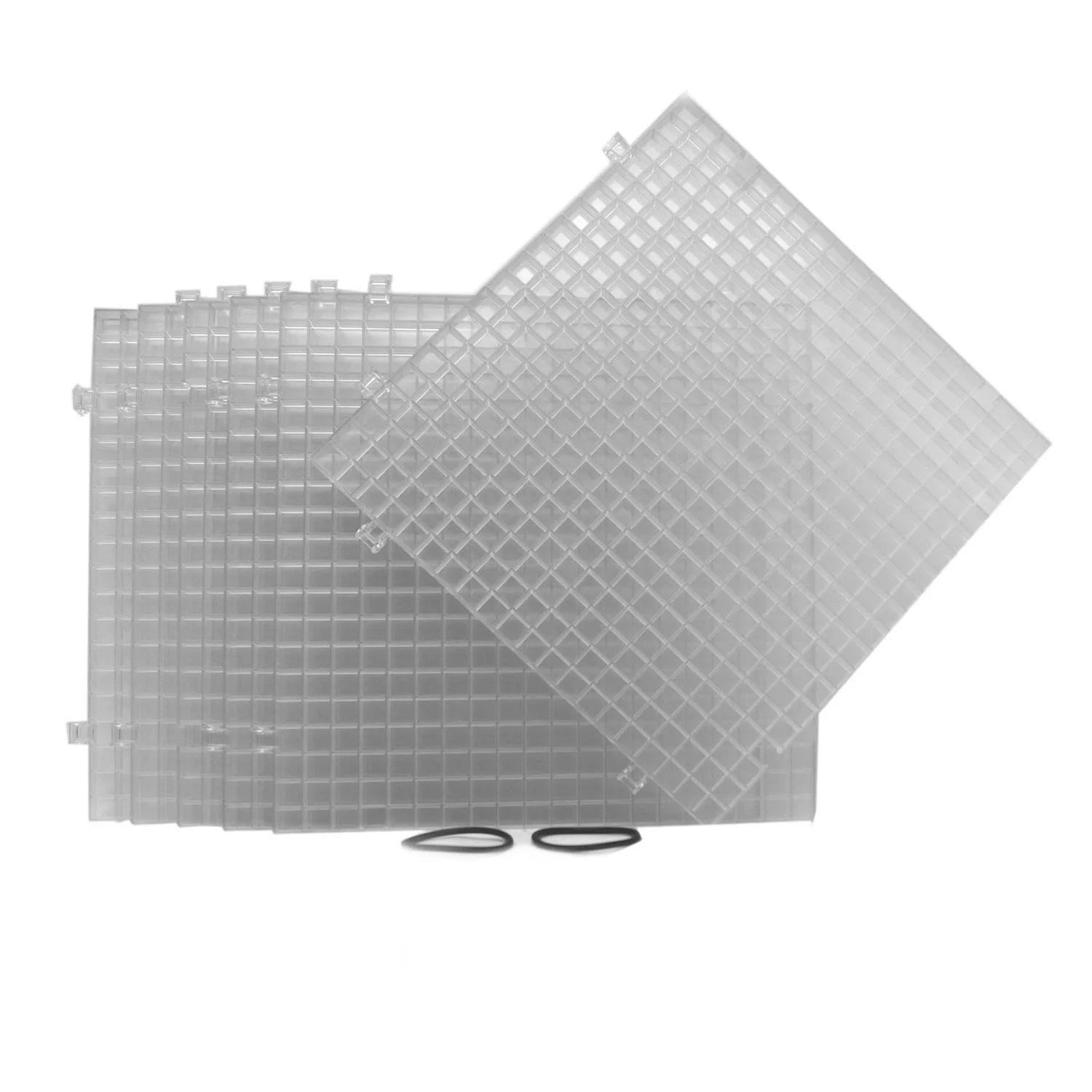 Clear Waffle Grid Surface - 6 Pack