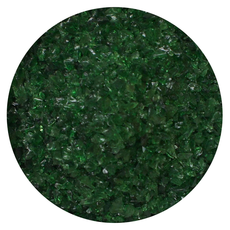 8.5 Oz Dark Green Transparent Medium Frit- 96 COE
