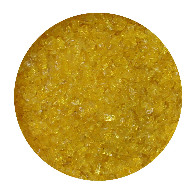 8.5 Oz Yellow Transparent Medium Frit- 96 COE