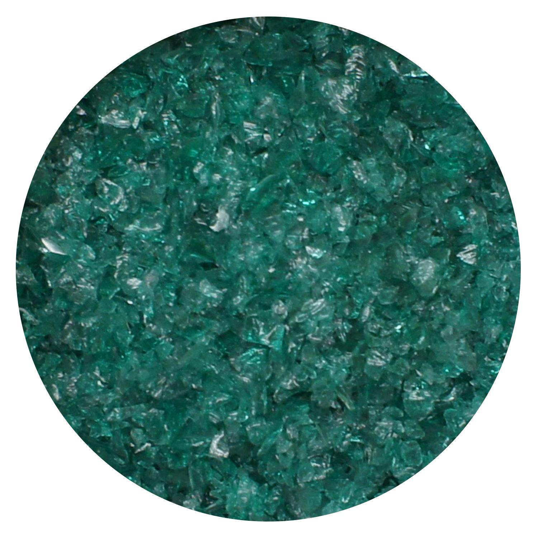 8.5 oz Teal Green Transparent Medium Frit- 96 COE