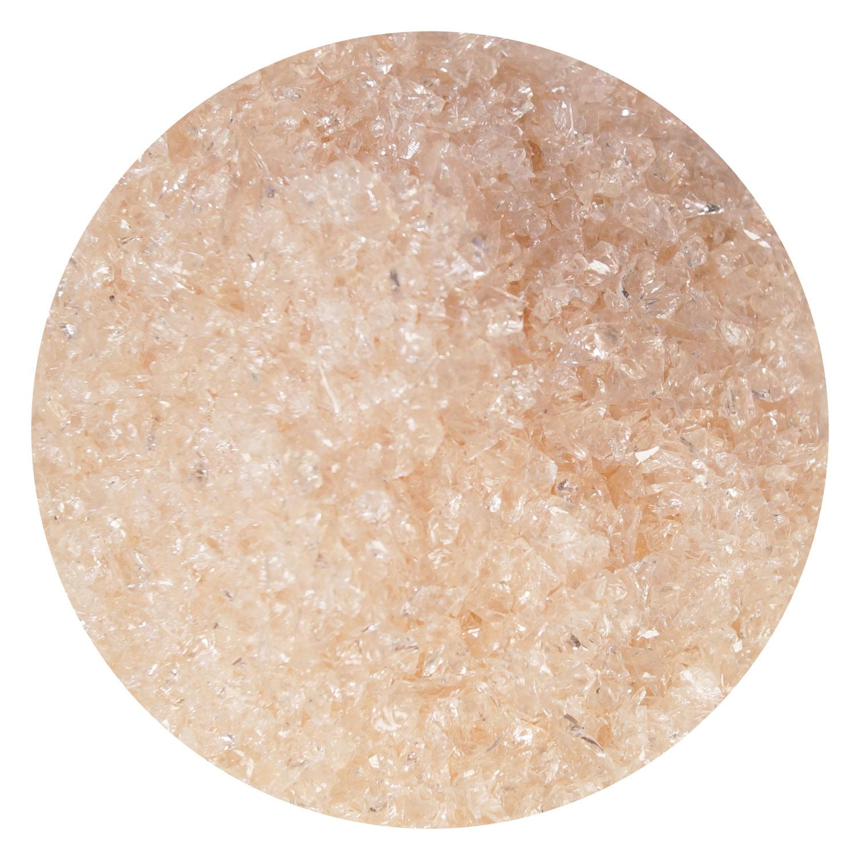 8.5 Oz Pink Champagne Transparent Medium Frit- 96 COE