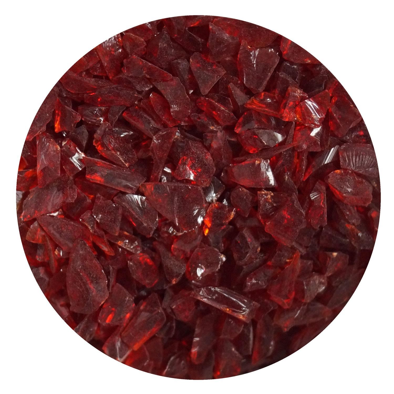 8.5 oz Cherry Red Transparent Coarse Frit - 96 COE