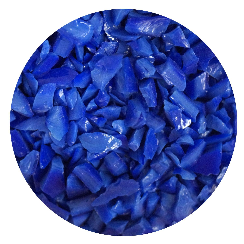 8.5 oz Dark Blue Opal Coarse Frit - 96 COE