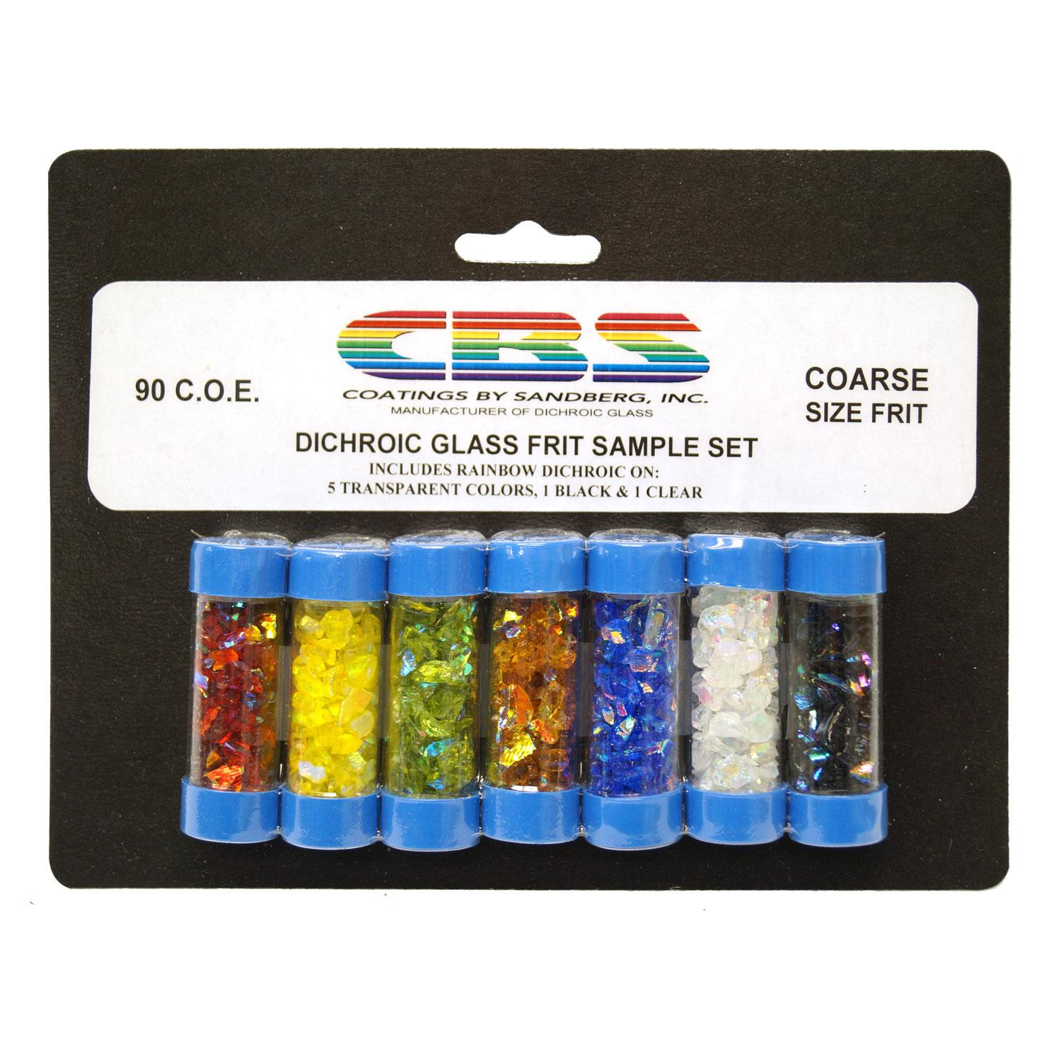 CBS Colored Dichroic Frit Assortment - 90 COE