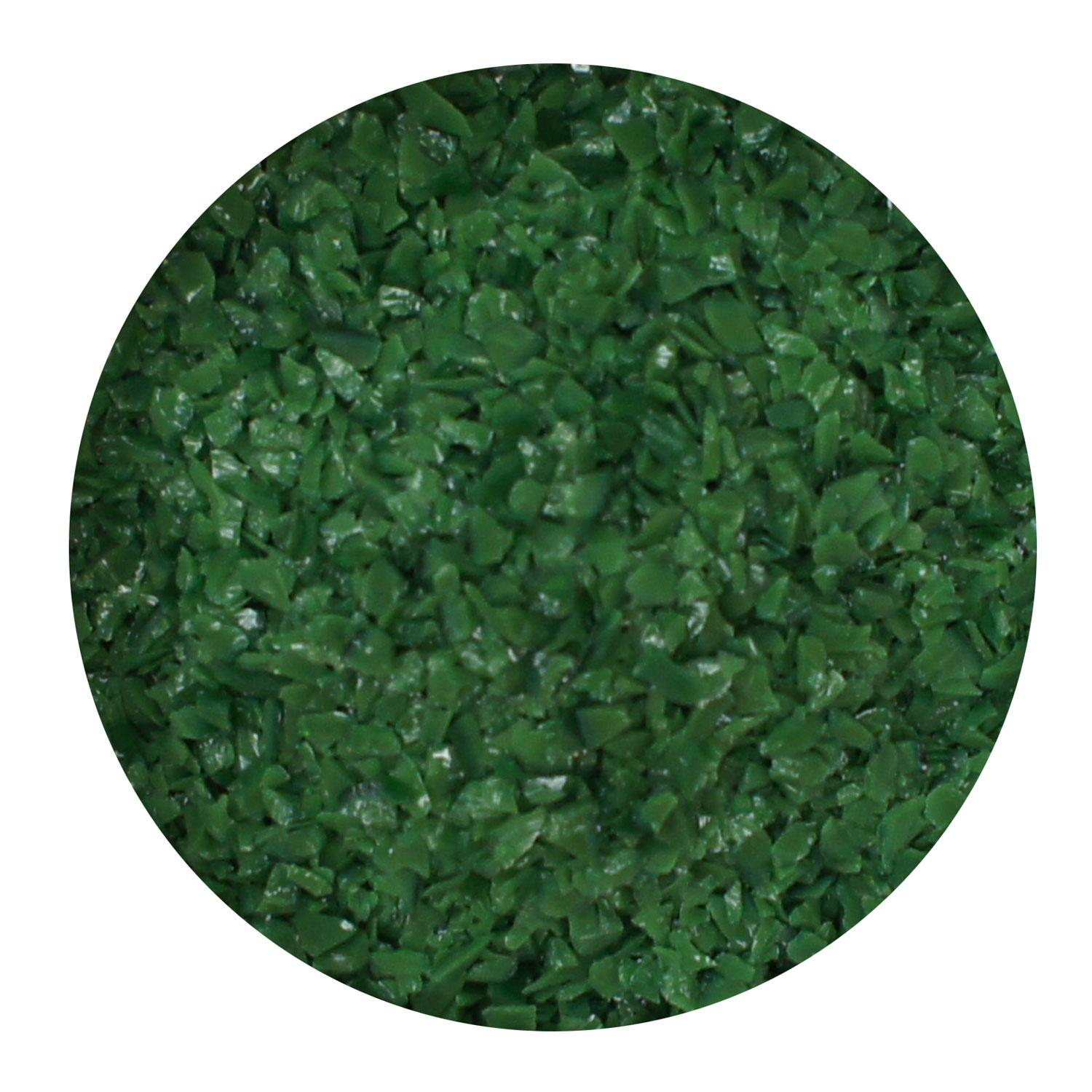 8.5 Oz Dark Green Opal Medium Frit - 96 COE