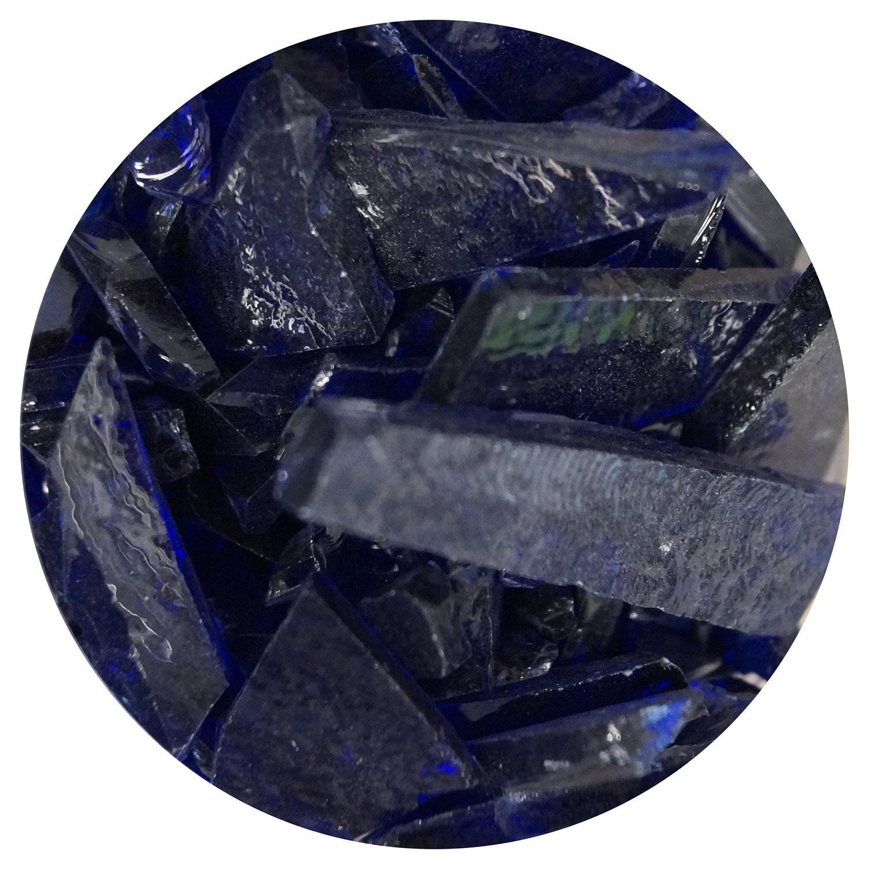 8.5 oz Cobalt Blue Opal Mosaic Frit - 96 COE