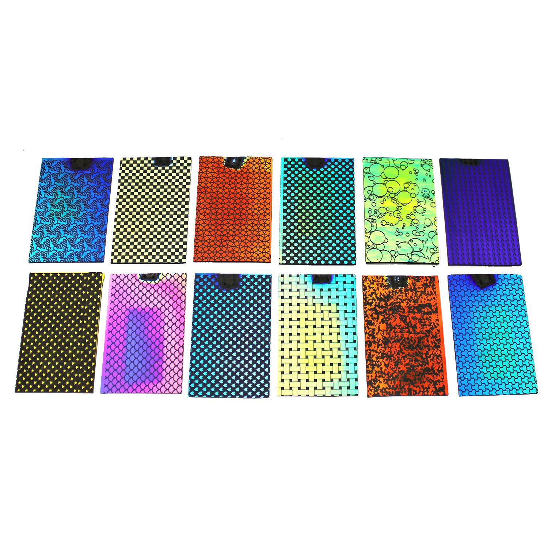 DichroMagic Laser Patterns Sample Set On Thin Black - 96 COE