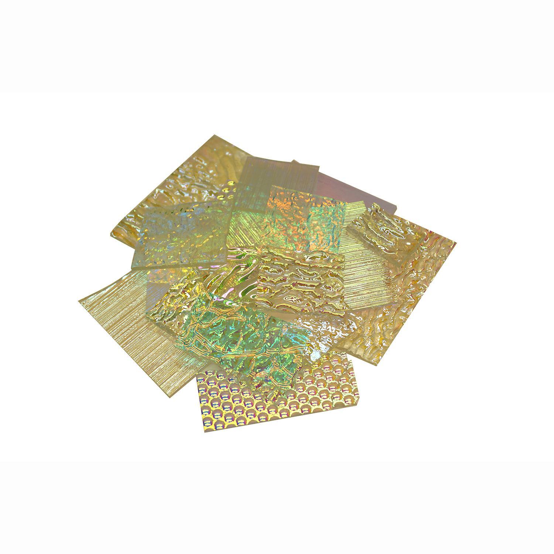 1 lb DichroMagic Dichroic Mixed Scrap on Clear - 96 COE