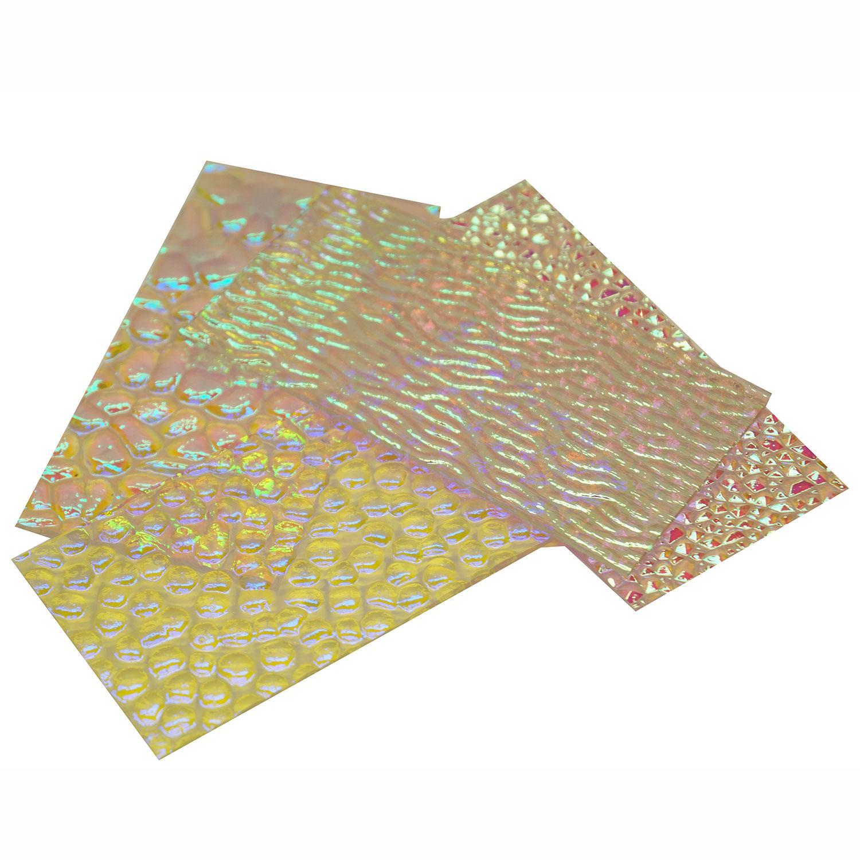 1/4 lb Wissmach Dichroic Textured Scrap on Clear - 96 COE