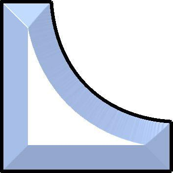 3-1/2 x 1 Corner Bevel (elbow)
