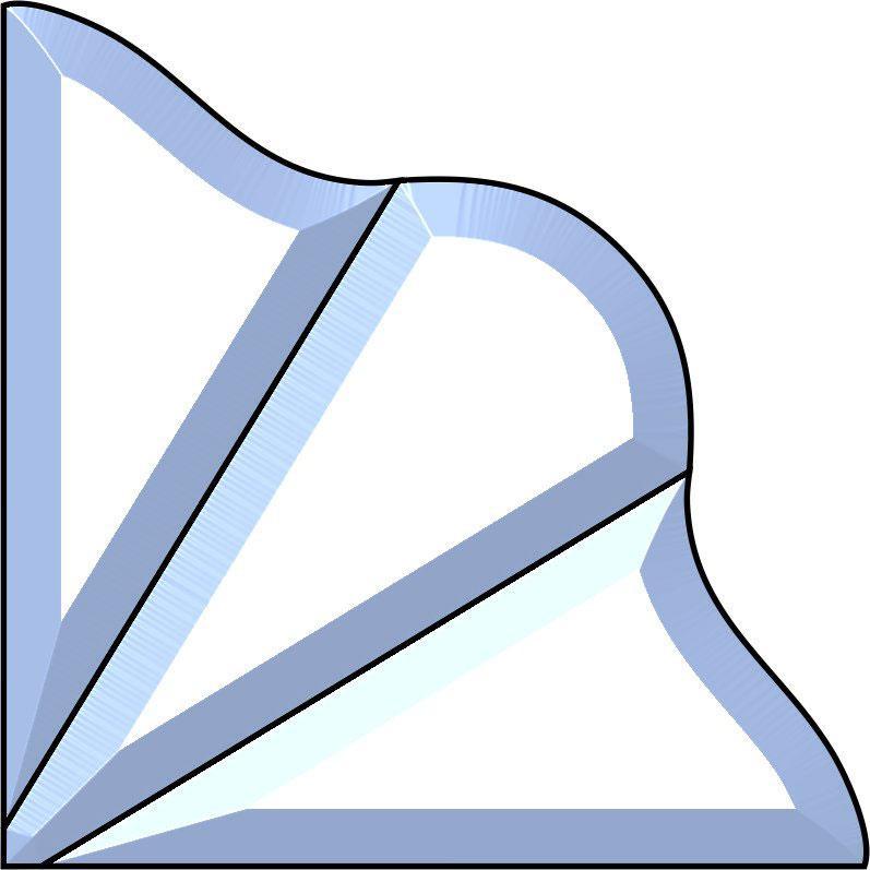 8 x 8 Trinity Jewel Bevel Cluster