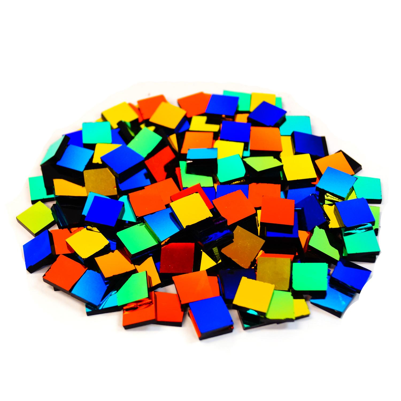 1/2 Dichroic Coated Mosaic Glass Assortment - 1/2 Lb