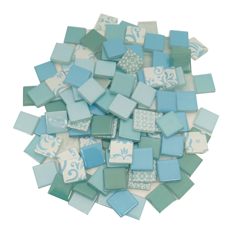 3/4 Ocean Tide Patchwork Glass Tile Assortment - 1 Lb