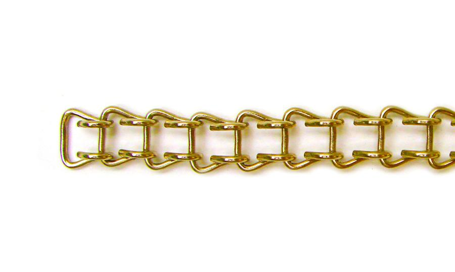18 Gauge Brass Ladder Chain - 50 Ft. Roll