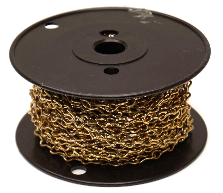 16 Gauge Brass Jack Chain - 50 Ft. Roll