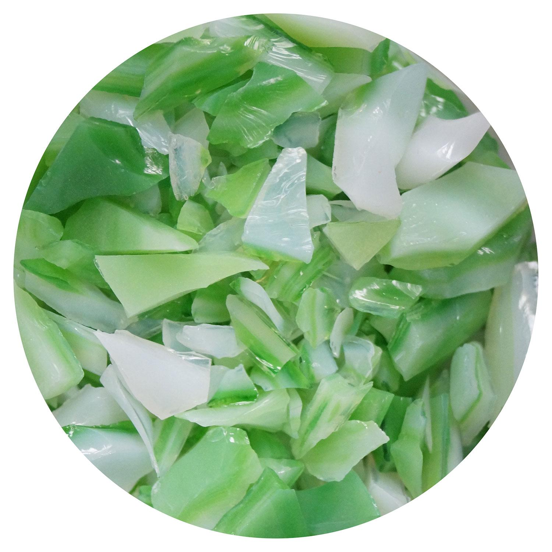 8.5 oz Fern Green and White Opal Dual Tone Coarse Frit - 96 COE