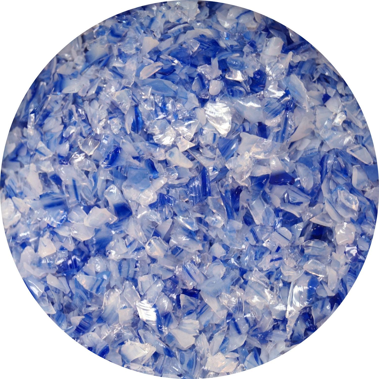 8.5 oz Cobalt Blue / White Opal Dual Tone Medium Frit - 96 COE