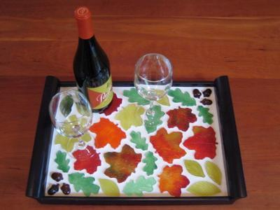 Free Hot Glass Mosaic Serving Tray Project Guide