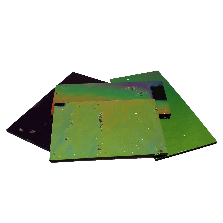 1/4 Lb DichroMagic Solid Colors Dichroic Scrap On Black - 90 COE