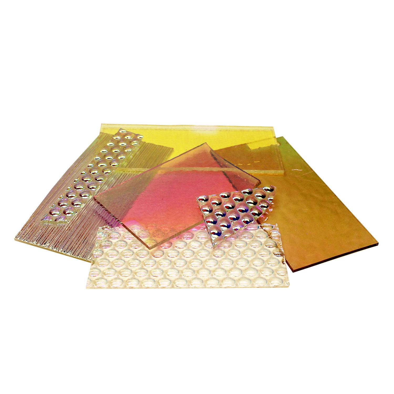 1/4 Lb DichroMagic Solid Colors Dichroic Scrap On Clear - 96 COE