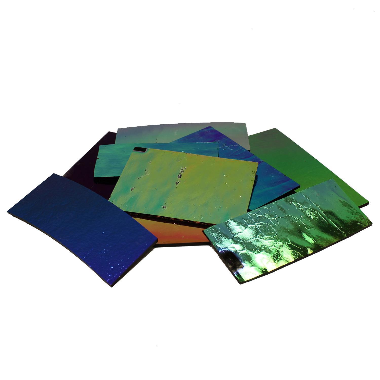 1/2 Lb DichroMagic Solid Colors Dichroic Scrap On Black - 96 COE