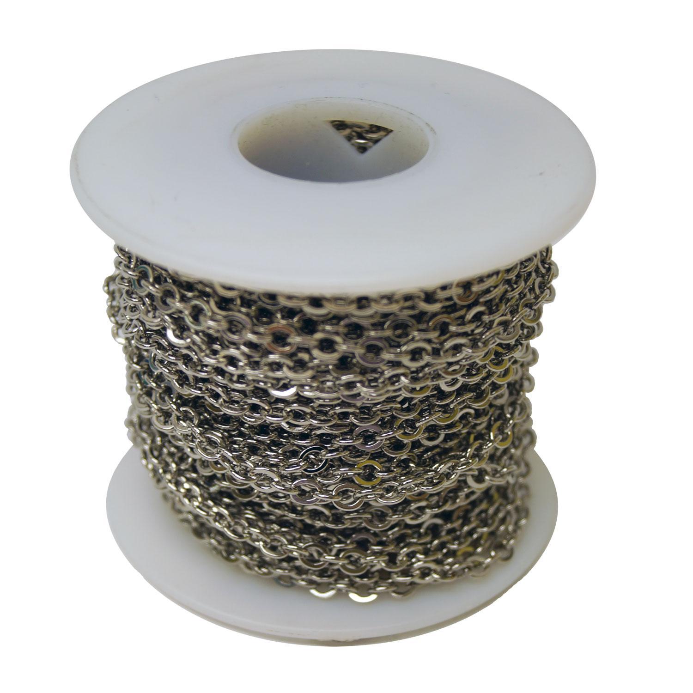Nickel Box Chain - 50 Ft. Roll