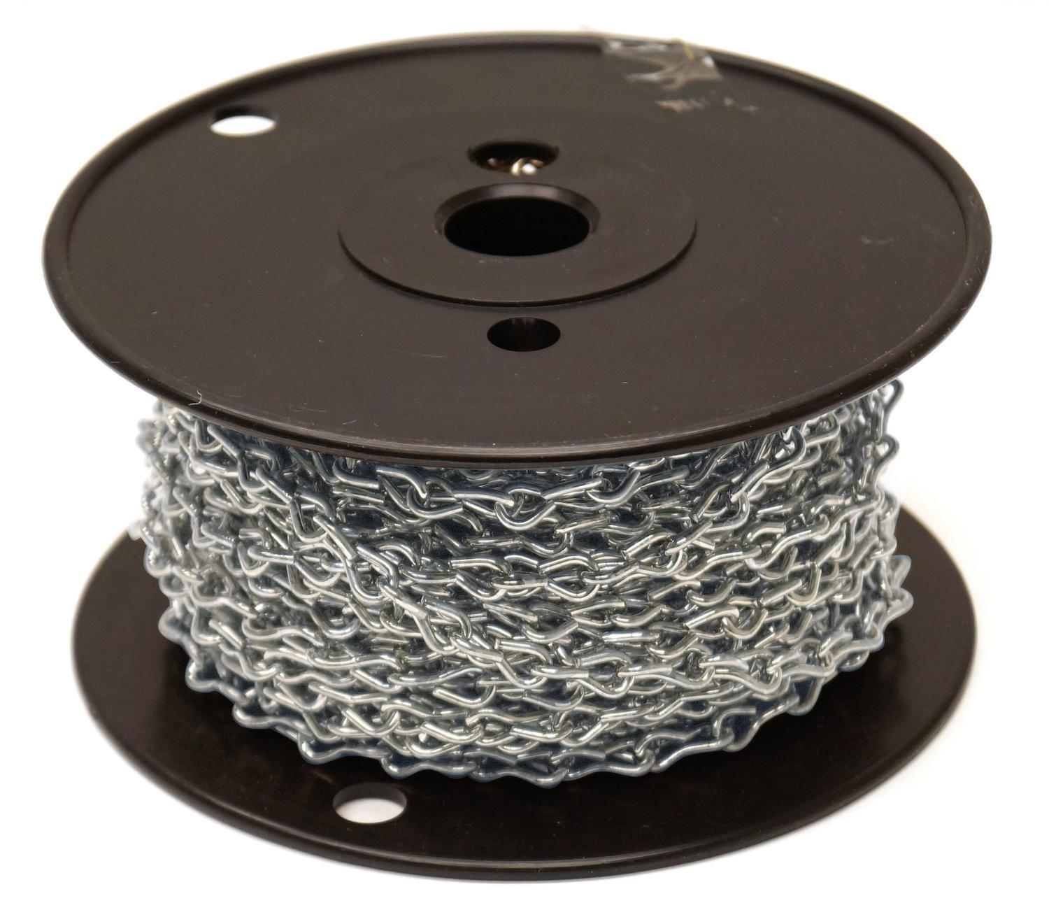 16 Gauge Nickel Jack Chain - 50 Ft. Roll