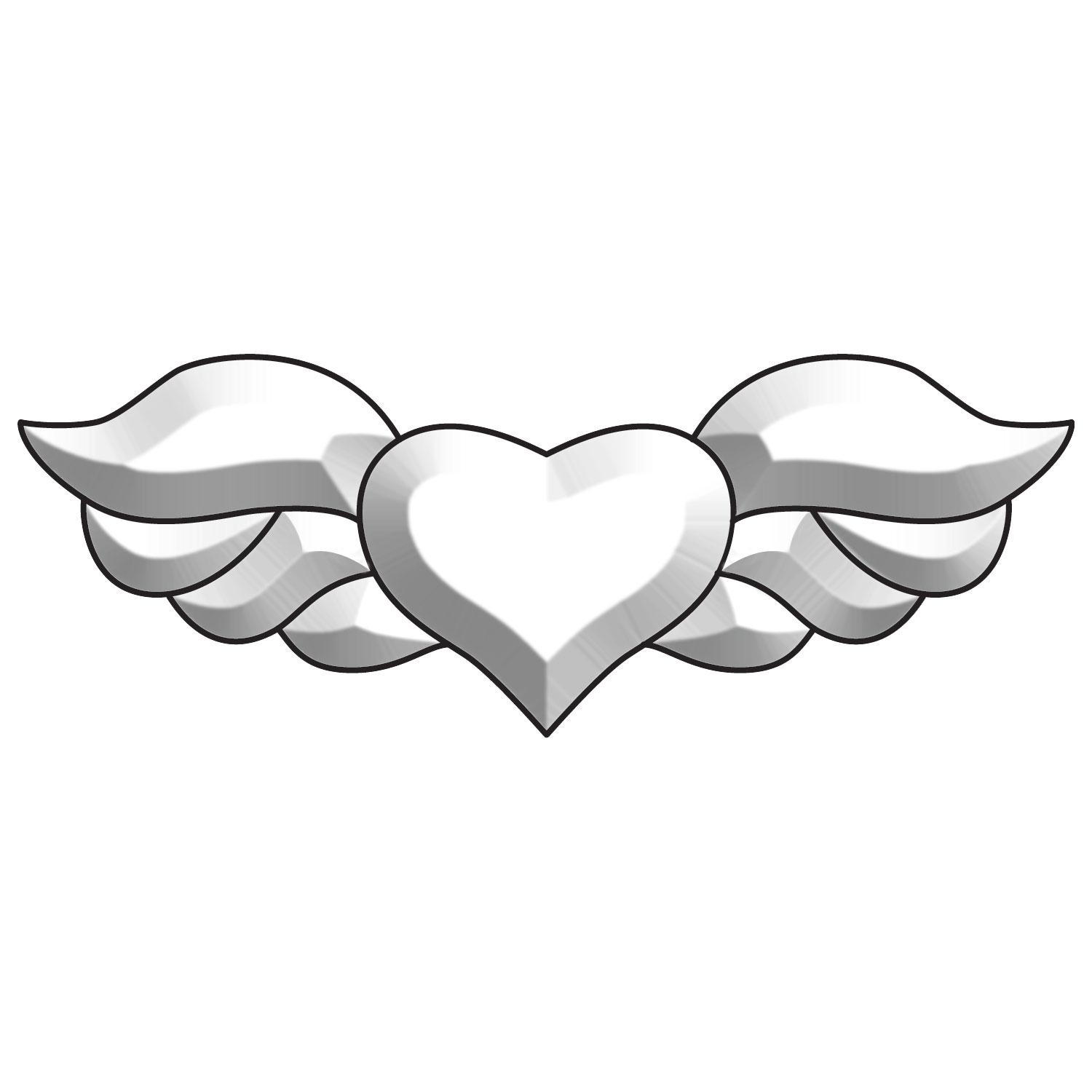 Winged Heart Bevel Cluster