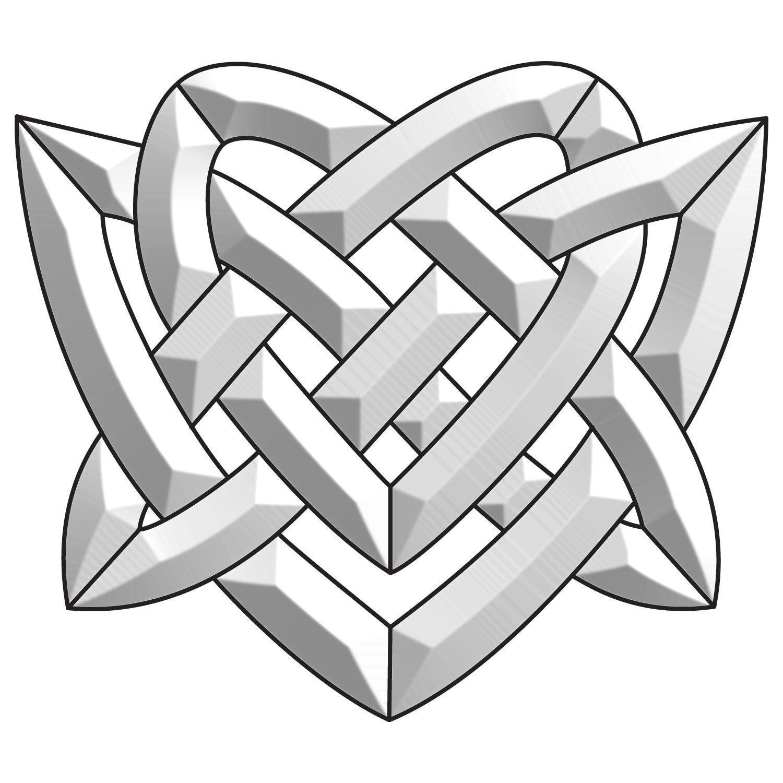 Celtic Heart Bevel Cluster