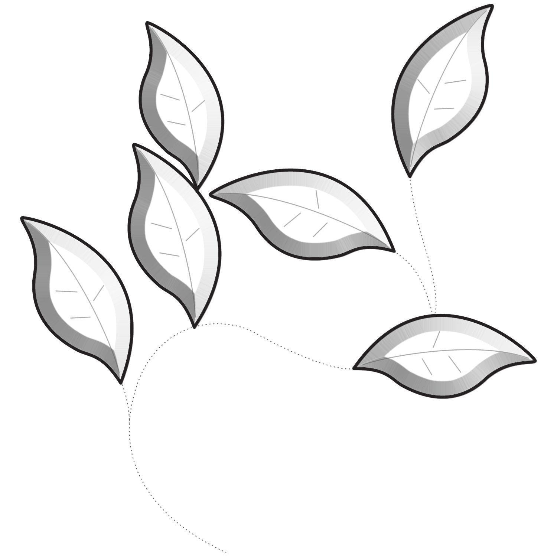 Clear Garden Leaves Bevel Cluster