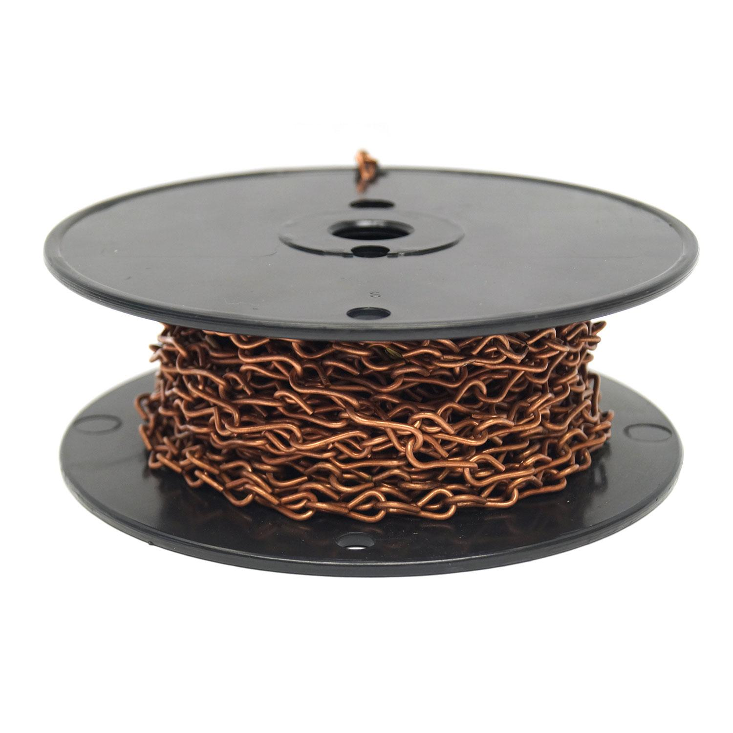 16 Gauge Copper Jack Chain - 50 Ft. Roll